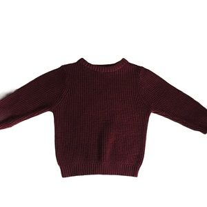 CARTERS Chunky Knit Sweater Maroon Boys Size 2T